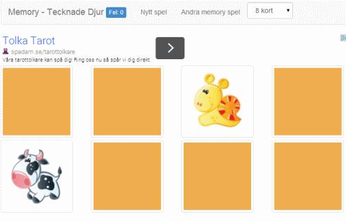 spela memory online barn